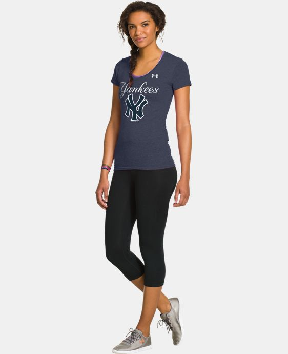 New to Outlet Women's New York Yankees Charged Cotton® Tri-Blend T  1 Color $26.99