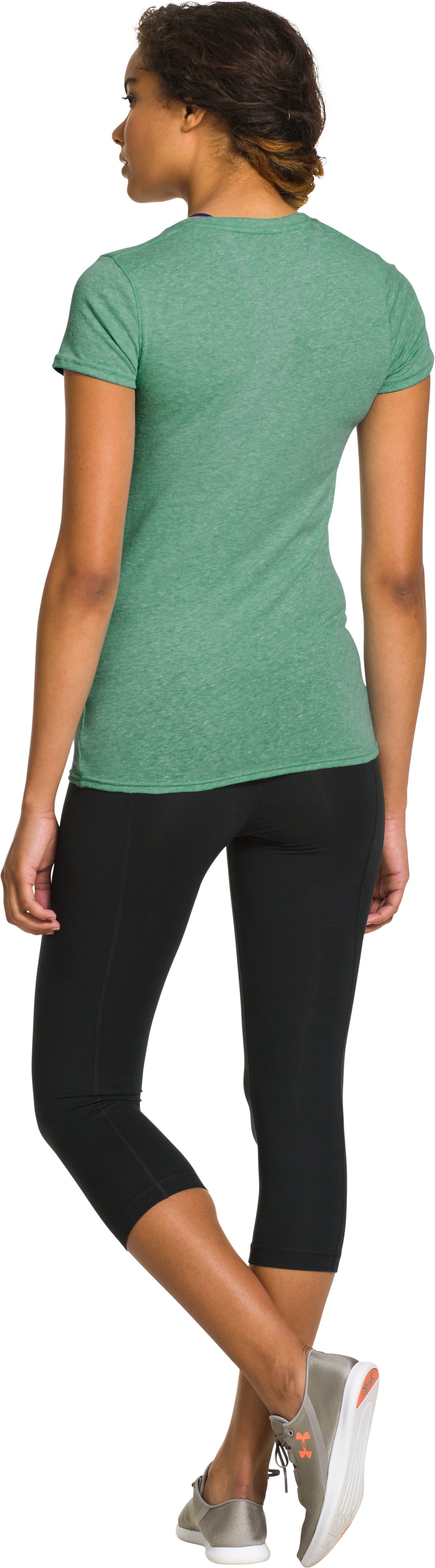 Women's Oakland A's Charged Cotton® Tri-Blend T, Forest Green, Back