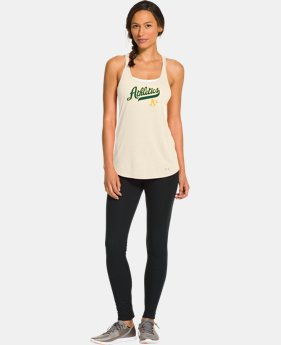 New to Outlet Women's Oakland Athletics Knot Tank LIMITED TIME: FREE U.S. SHIPPING 1 Color $26.99