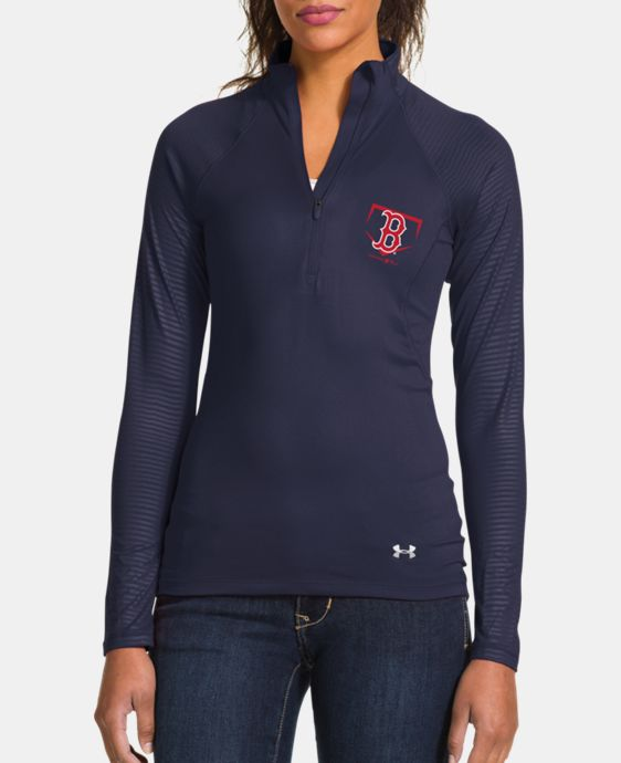Women's Boston Red Sox UA Tech™ 1/2 Zip LIMITED TIME: FREE U.S. SHIPPING 1 Color $56.99