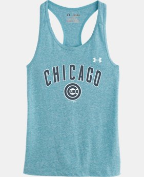 Girls' Chicago Cubs UA Charged Cotton® Tri-Blend Tank