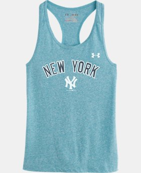 Girls' New York Yankees UA Charged Cotton® Tri-Blend Tank