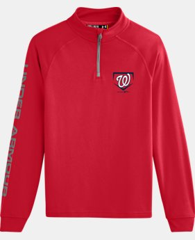 Boys' Washington Nationals UA Tech™ ¼ Zip