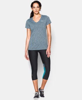 Women's UA Tech™ Heather Stripe V-Neck LIMITED TIME: FREE U.S. SHIPPING 1 Color $18.99