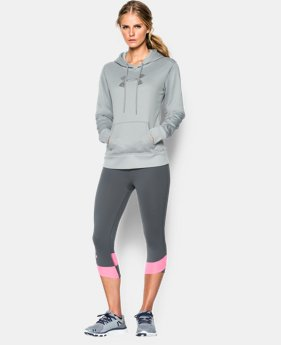 Women's UA Storm Armour® Fleece Stud Big Logo Hoodie  4 Colors $44.99