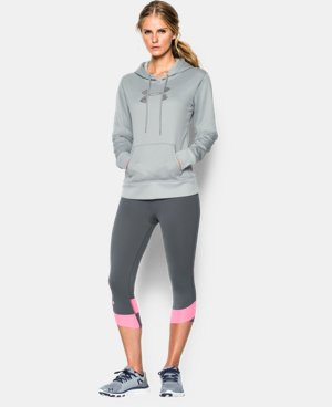New Arrival  Women's UA Storm Armour® Fleece Stud Big Logo Hoodie LIMITED TIME: FREE SHIPPING 1 Color $52.99