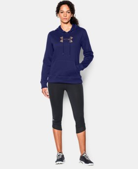 Women's UA Storm Armour® Fleece Stud Big Logo Hoodie  1 Color $33.74