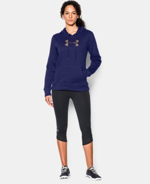 Women's UA Storm Armour® Fleece Stud Big Logo Hoodie LIMITED TIME: FREE U.S. SHIPPING 1 Color $33.74 to $44.99