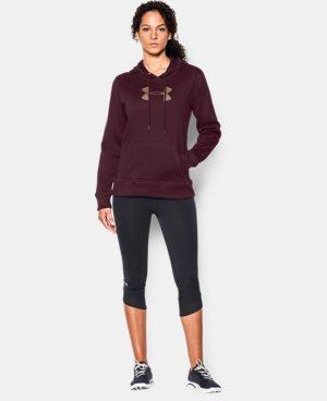 Women's UA Storm Armour® Fleece Stud Big Logo Hoodie   $33.74