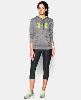 Women's UA Storm Armour® Fleece Big Logo Twist Hoodie  1 Color $35.99 to $44.99