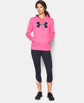 Women's UA Storm Armour® Fleece Big Logo Twist Hoodie  2 Colors $35.99 to $44.99