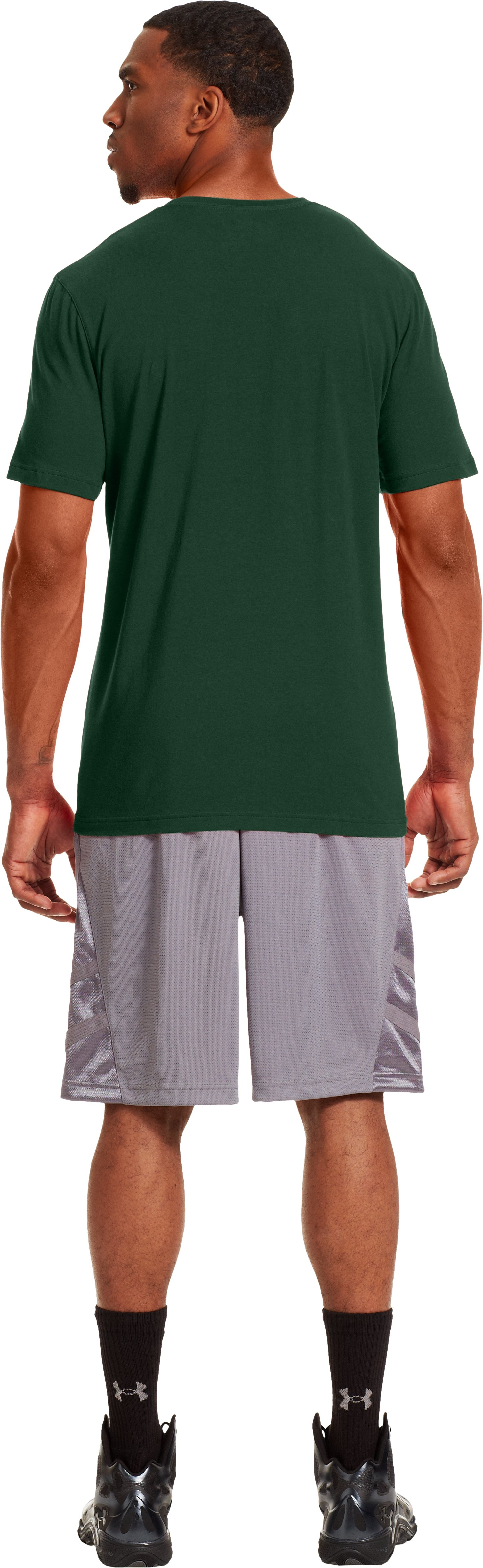 Men's Baylor UA Basketball T-Shirt, Forest Green, Back