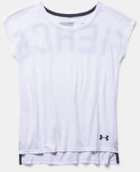 Girls' UA Studio Sport Charged Cotton® Tri-Blend T-Shirt