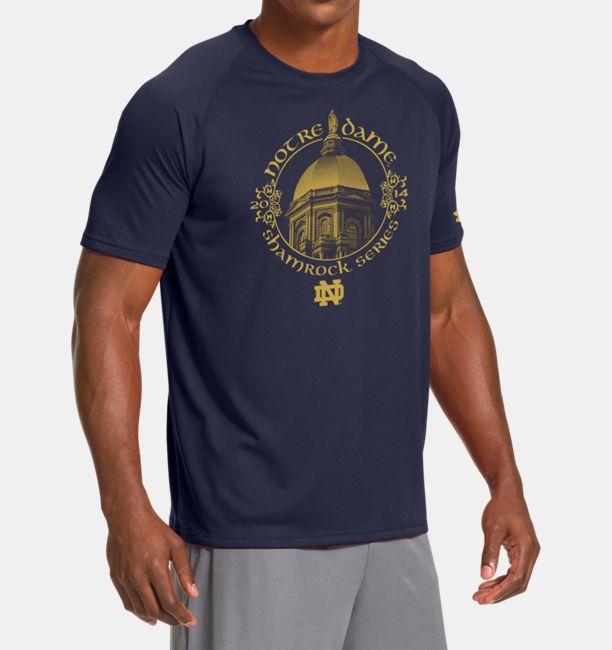 Men S Notre Dame Shamrock Series Ua Tech T Shirt Under