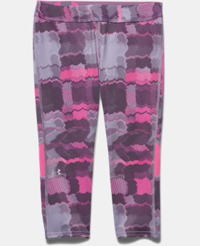 Girls' UA HeatGear® Armour Color Blocked Capri