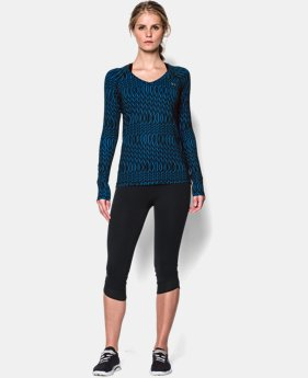 Women's UA HeatGear® Armour Printed Long Sleeve