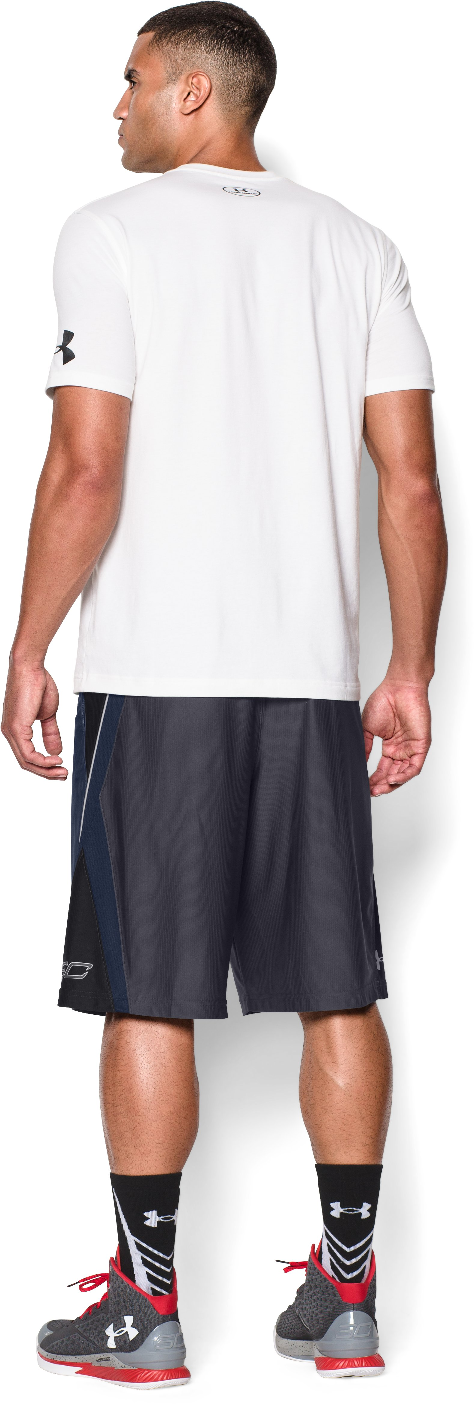 Men's SC30 Court Vision Basketball Shorts, STEALTH GRAY, Back