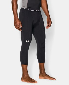 Men's UA HeatGear® Armour ¾ Compression Leggings LIMITED TIME: FREE U.S. SHIPPING 1 Color $34.99