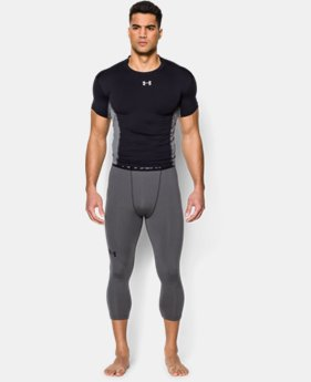 New Arrival  Men's UA HeatGear® Armour ¾ Compression Leggings LIMITED TIME: FREE SHIPPING 1 Color $39.99