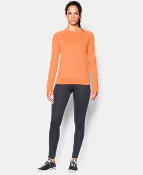 Women's UA ColdGear® Cozy Novelty Zip Crew LIMITED TIME OFFER + FREE U.S. SHIPPING 2 Colors $39.37