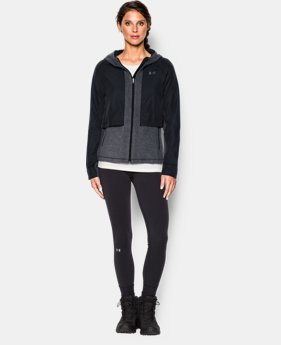 Women's UA ColdGear® Infrared Hybrid Full Zip Hoodie   $56.24