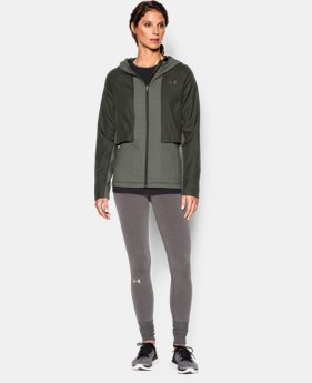 UA ColdGear® Infrared Survivor Hybrid Full Zip Hoodie LIMITED TIME: FREE U.S. SHIPPING 1 Color $56.24