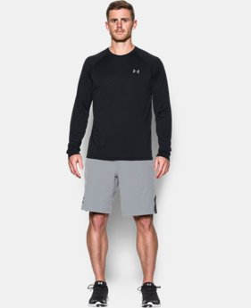 New Arrival  Men's UA Tech™ Patterned Long Sleeve T-Shirt   $34.99