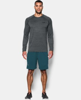 Men's UA Tech™ Patterned Long Sleeve T-Shirt LIMITED TIME OFFER 1 Color $20.99
