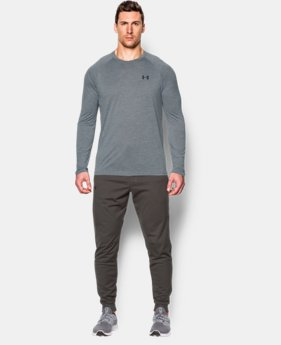 New Arrival  Men's UA Tech™ Patterned Long Sleeve T-Shirt  1 Color $34.99
