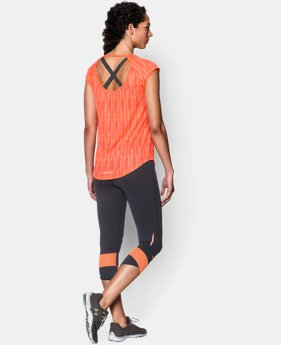 Women's UA Fly-By Print Allover Short Sleeve