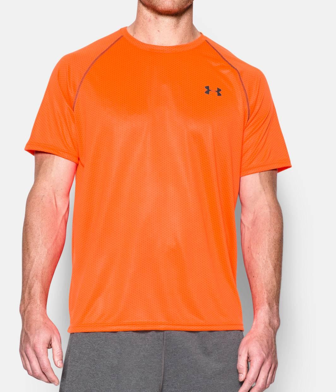 Men s ua tech printed short sleeve t shirt under armour us for Printed under armour shirts