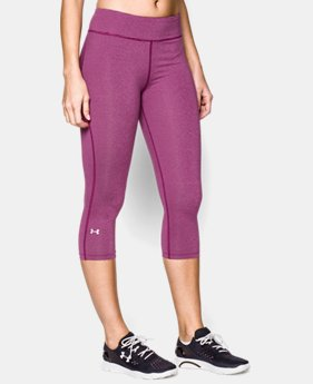 "Women's UA HeatGear® Armour 17"" Stripe Capri"