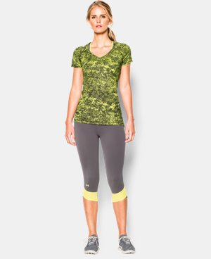 Women's UA HeatGear® Armour Printed Short Sleeve LIMITED TIME: FREE U.S. SHIPPING 1 Color $19.99