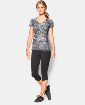 Women's UA HeatGear® Armour Printed Short Sleeve