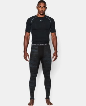 Men's UA ColdGear® Armour Printed Compression Leggings LIMITED TIME OFFER + FREE U.S. SHIPPING 2 Colors $44.99