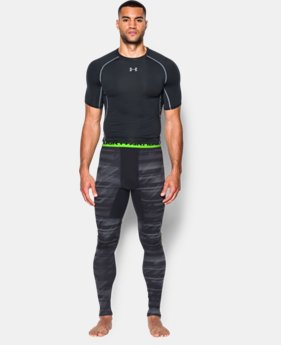 Men's UA ColdGear® Armour Printed Compression Leggings