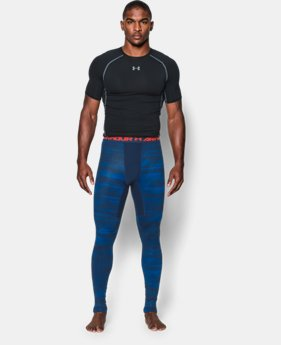 Men's UA ColdGear® Armour Printed Compression Leggings  3 Colors $35.99 to $44.99
