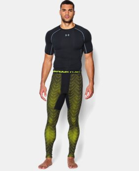 Men's UA ColdGear® Armour Printed Compression Leggings LIMITED TIME OFFER + FREE U.S. SHIPPING  $44.99