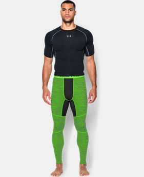 Men's UA ColdGear® Armour Twist Compression Leggings