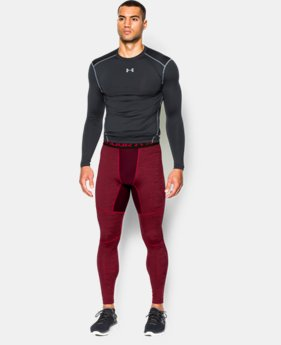 Men's UA ColdGear® Armour Twist Compression Leggings LIMITED TIME OFFER + FREE U.S. SHIPPING  $44.99