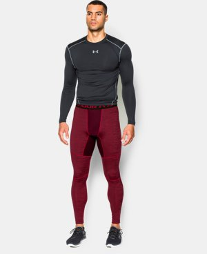 Men's UA ColdGear® Armour Twist Compression Leggings LIMITED TIME: 25% OFF 1 Color $52.49