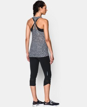 Women's UA Fly-By Allover Printed Mesh Tank