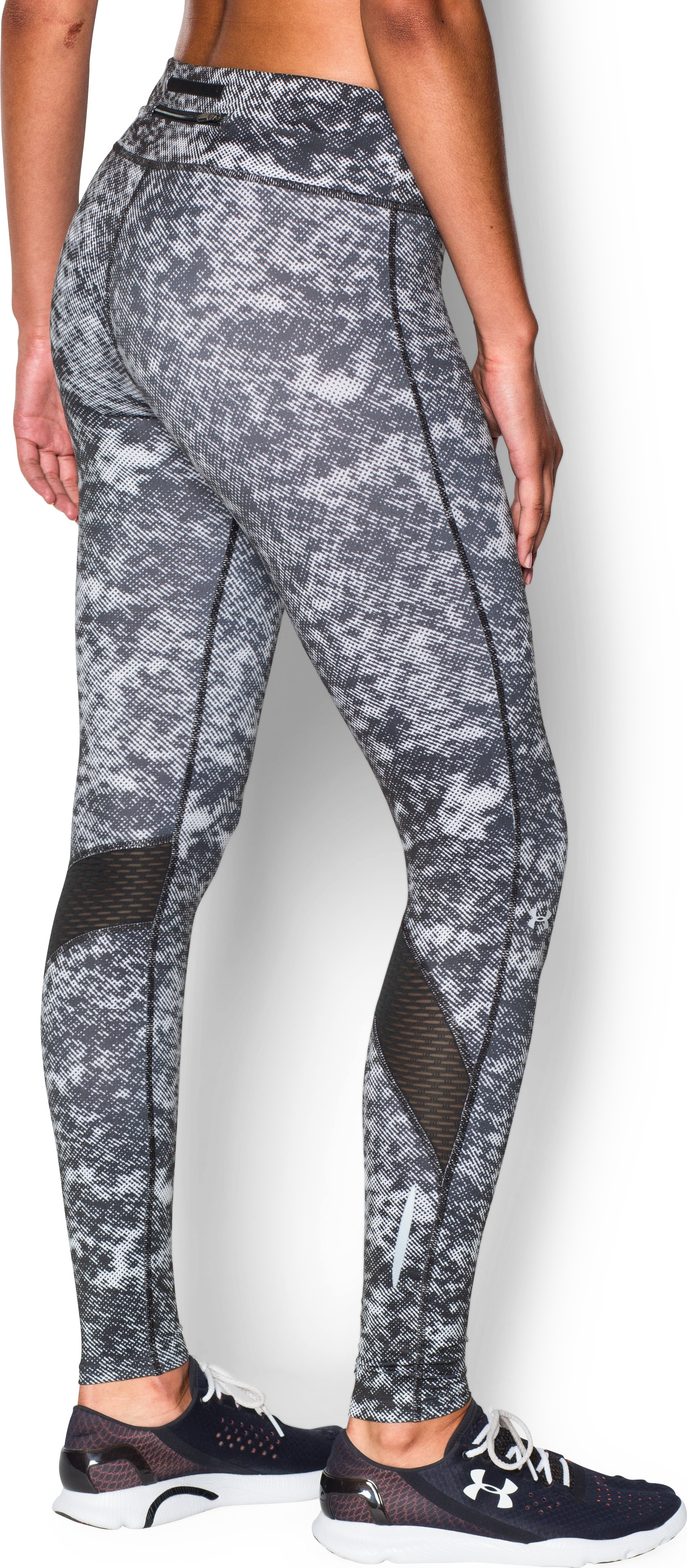 Women's UA Fly-By Printed Legging, Black ,