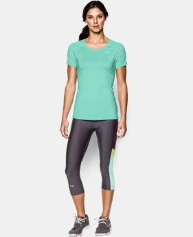 Women's UA HeatGear® Armour Stripe Short Sleeve