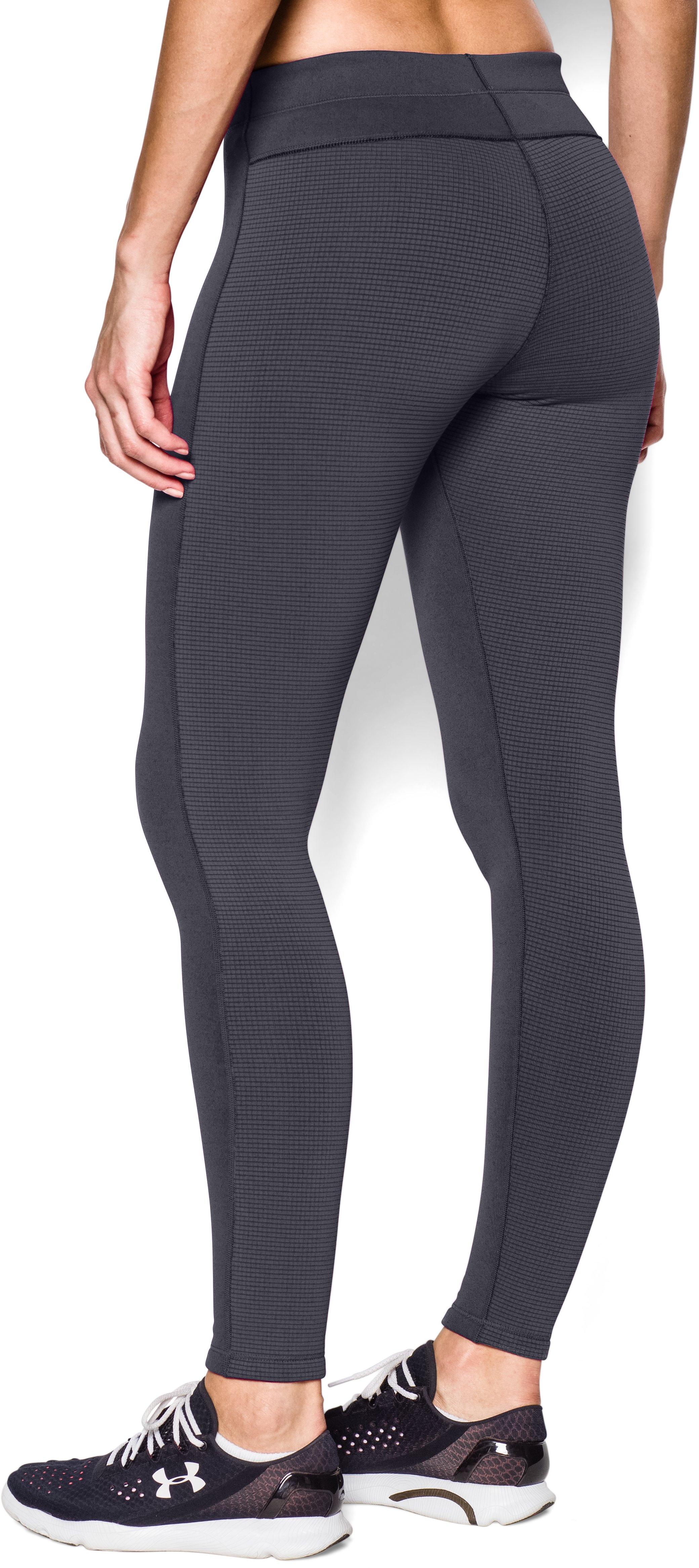 Women's UA Armour® Stretch ColdGear Legging, PHANTOM GRAY, undefined