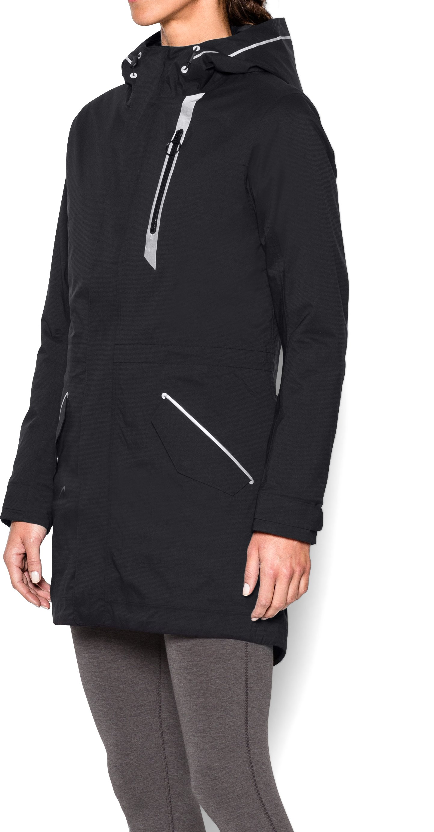 Women's UA To/From Waterproof Parka, Black