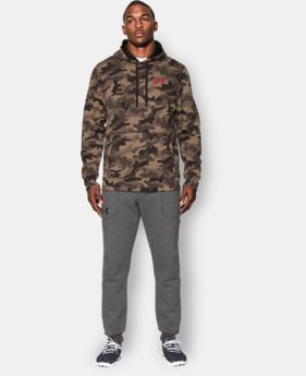 Men's UA Rival Fleece Printed Hoodie  1 Color $41.99