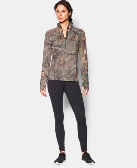 Women's UA Tech Camo ½ Zip  1 Color $31.49