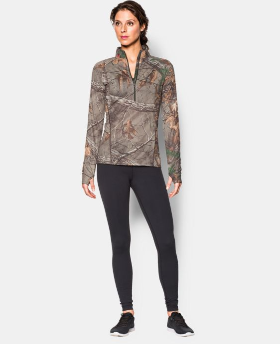 Women's UA Tech Camo ½ Zip   $31.49