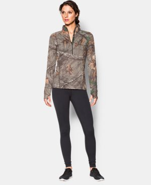 Women's UA Tech Camo 1/2 Zip   1 Color $36.74